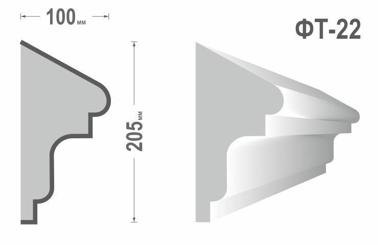 Фасадный молдинг (Тяга) фт-22