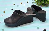 Сабо женские кожаные на платформе, фото 2