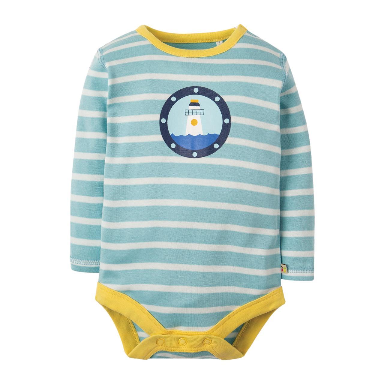 Боди детский Frugi, Tidal Blue Breton