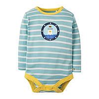 Боди детский Frugi, Tidal Blue Breton, фото 1