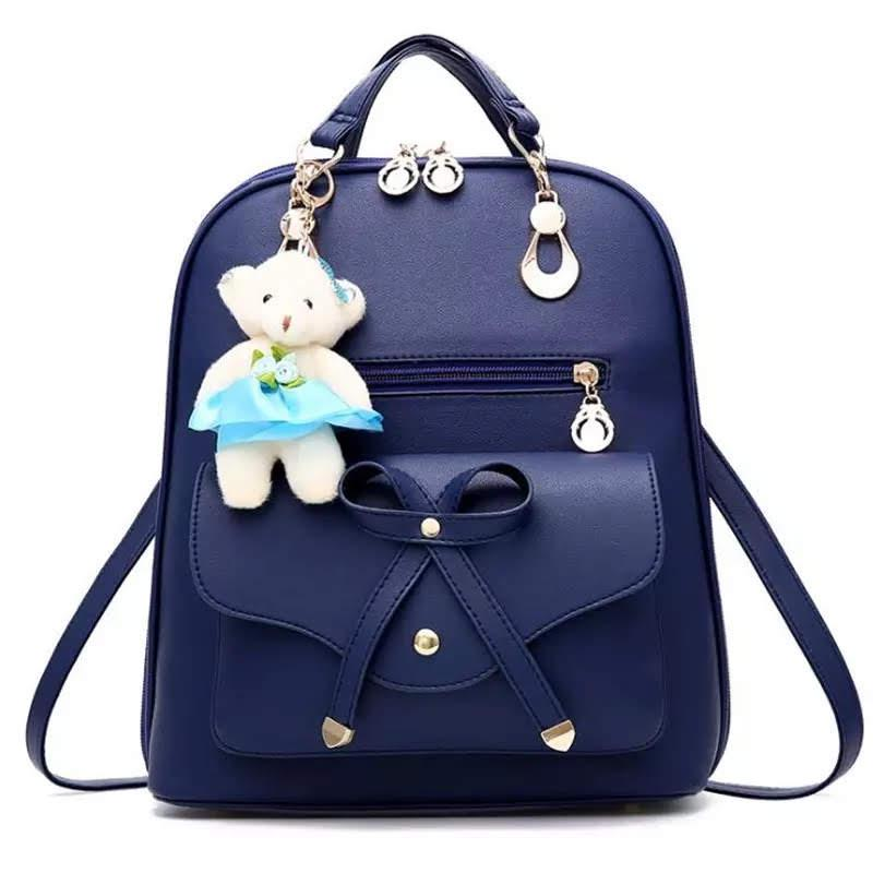 Рюкзак женский с мишкой Тедди и бантиком Инесса
