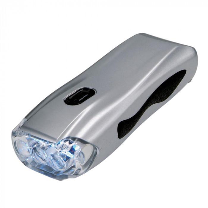 Динамо-фонарь серебряный, розница + опт