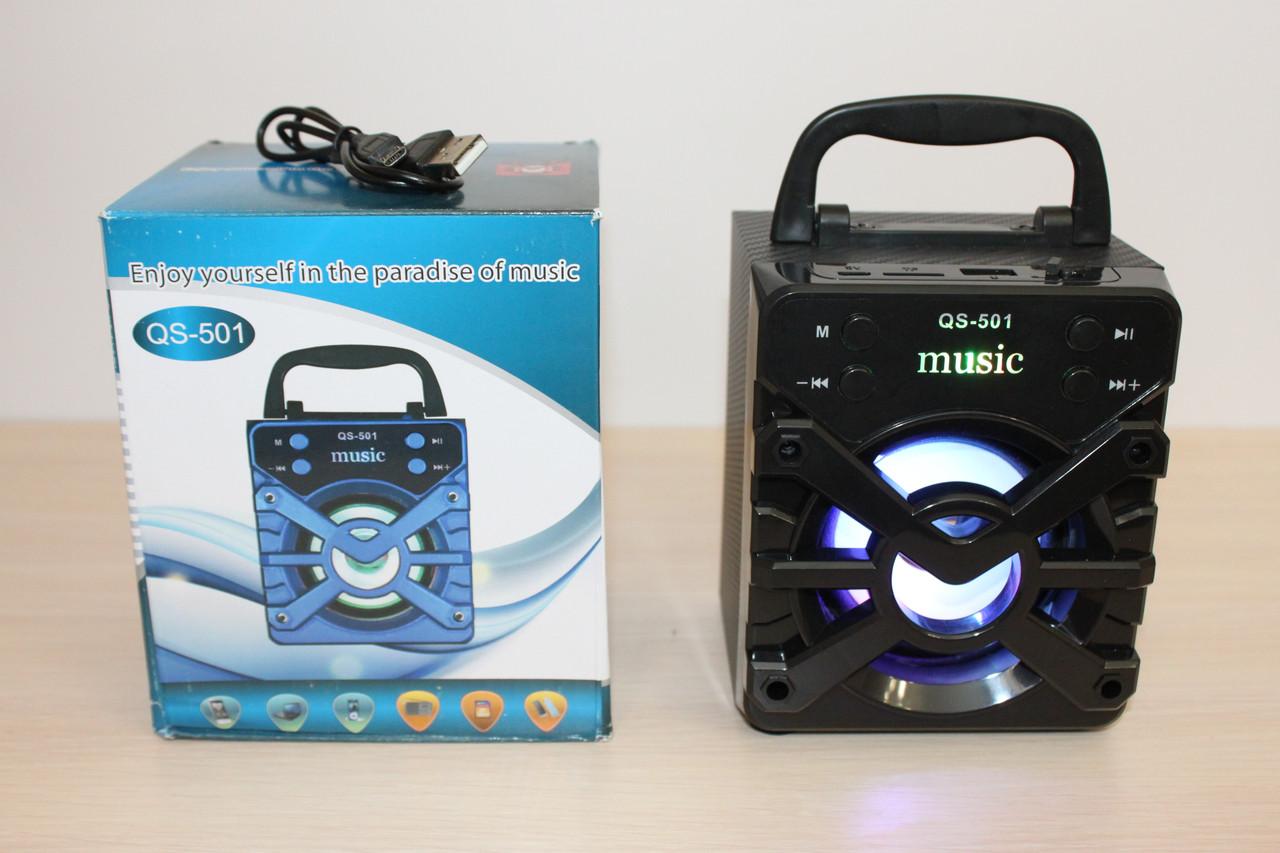 Колонка QS501 Bluetooth Black
