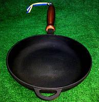 Сковорода чугунная с деревянной ручкой 200х35мм «Ситон»