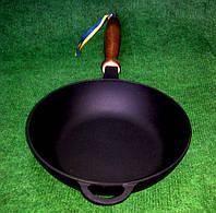 Сковородка чугунная с деревянной ручкой 200х54мм «Ситон»
