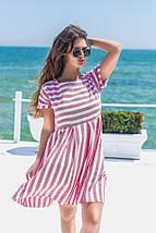 """Льняное летнее мини-платье в полоску """"Harman"""" с коротким рукавом (3 цвета), фото 2"""