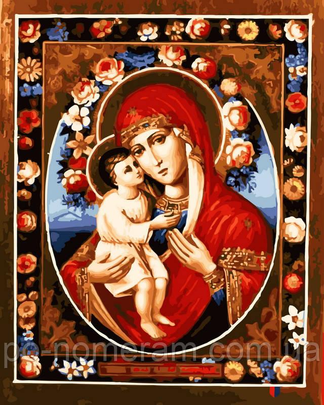 Картина по номерам Феодотьевская икона Божией Матери