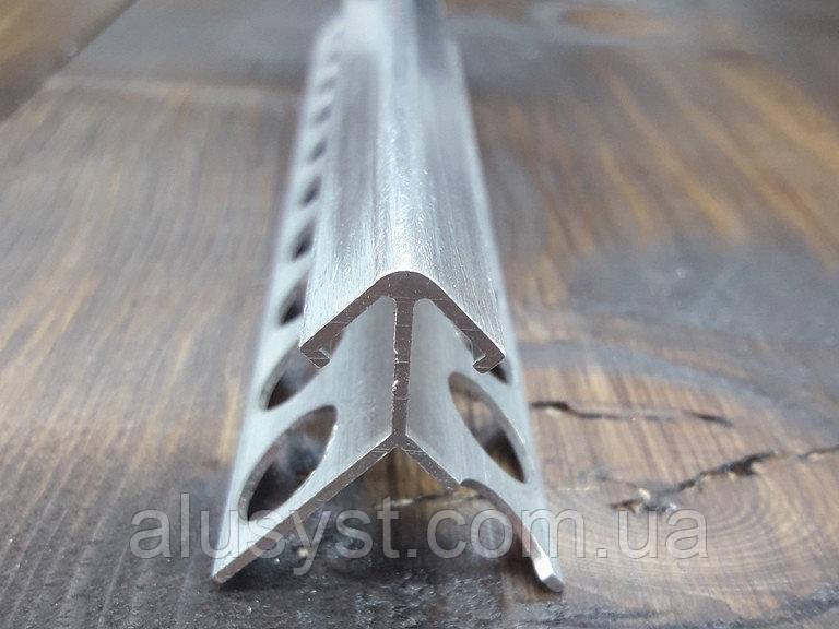 Квадратный профиль для плитки внешний 10мм, длинна 2,7м