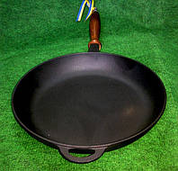 Сковорода чугунная с деревянной ручкой 260х40мм «Ситон»