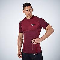 Мужская спортивная футболка бордовая