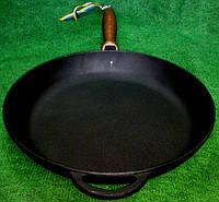 Сковородка чугунная с деревянной ручкой 280х40мм «Ситон»