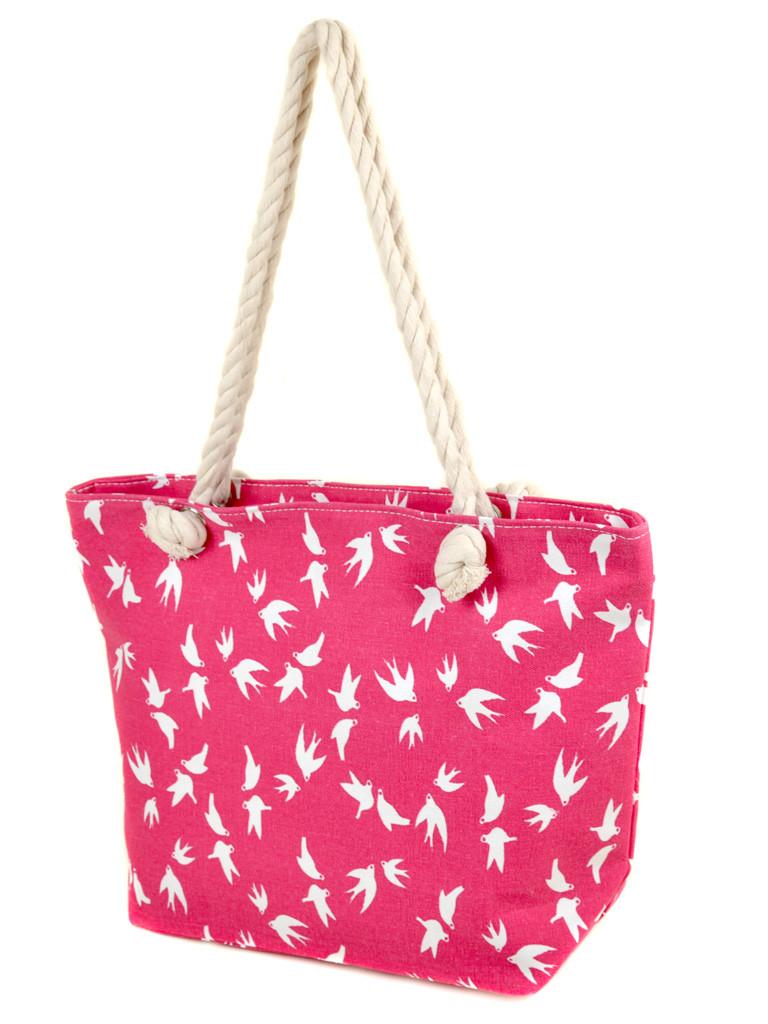 Сумка пляжная текстиль 2019-1 pink