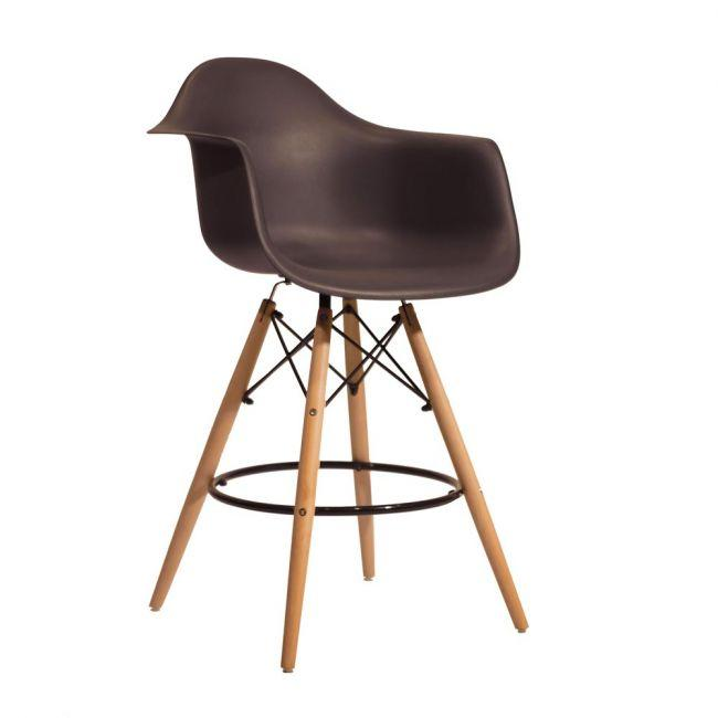 Полубарное крісло Leon, антрацит