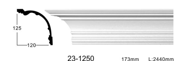 Карниз потолочный гладкий Classic Home 23-1250, лепной декор из полиуретана