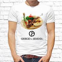 "Футболка Push IT с принтом ""Джорджо Армения/Giorgio s Armenia"" (по мотивам бренда Джорджо Армани/GiorgioArma"