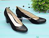 Женские классические туфли на каблуке из натуральной кожи и замши, фото 3