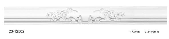 Карниз потолочный гладкий Classic Home 23-12502, лепной декор из полиуретана