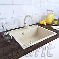 Граниткая кухонная мойка врезная Grant Mary ivory , фото 1