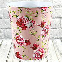 Ведро декоративное  PINK FLOWERS металлическое 412-37,40-44,47,48 (0804),