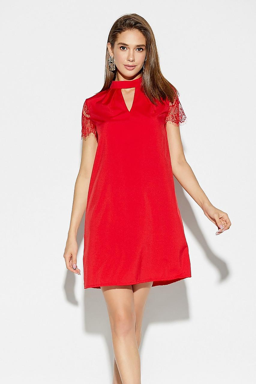 (S, M, L) Романтичне червоне жіноче плаття Dolche