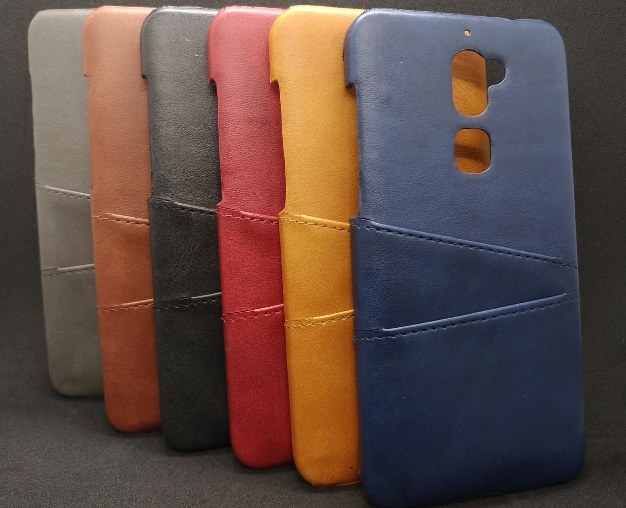 Кожаный чехол накладка с карманами для LeEco Cool1 / LeRee Le3 / Coolpad / Cooldual / Cool Play 6 / Changer 1C