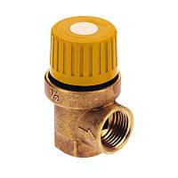 """Предохранительный клапан Icma №S120 для гелиосистемы 1/2"""" 6 бар, внутрення резьба"""