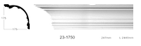 Карниз потолочный гладкий Classic Home 23-1750, лепной декор из полиуретана
