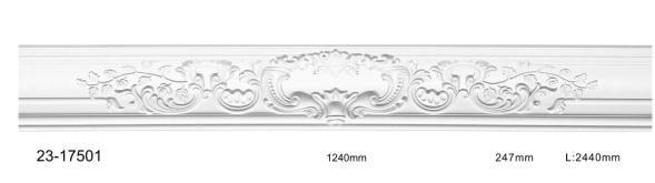 Карниз потолочный гладкий Classic Home 23-17501, лепной декор из полиуретана