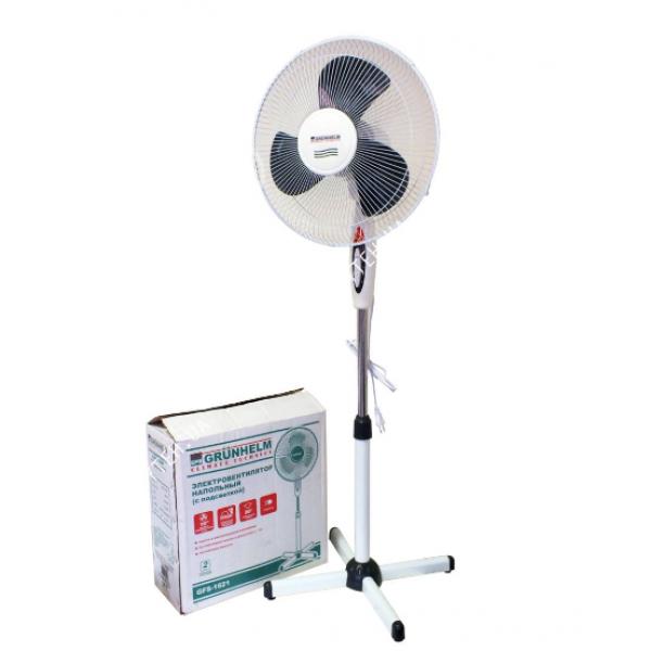 Вентилятор бытовой напольный с пультом GRUNHELM GH-1621. Вентилятор электрический комнатный поворотный