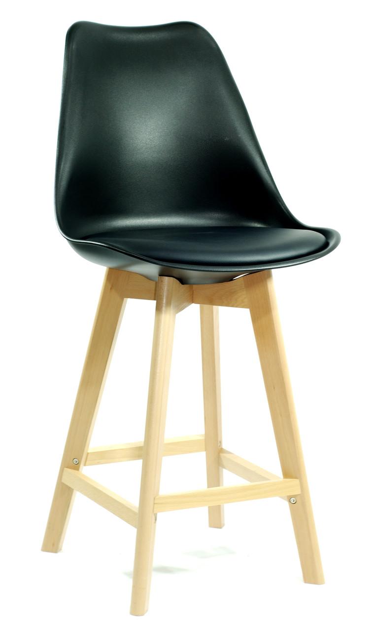 Полубарный стул Milan, черный