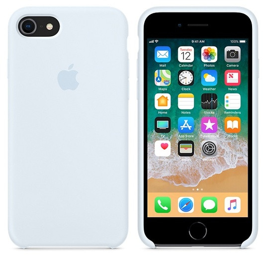 Силиконовый чехол для Apple iPhone 6 / 6S (4.7 Дюйма) Silicone case (Серо-голубой)
