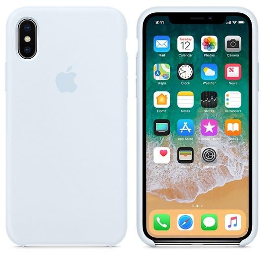 Силиконовый чехол для Apple iPhone XS Max Silicone case (Серо-голубой)