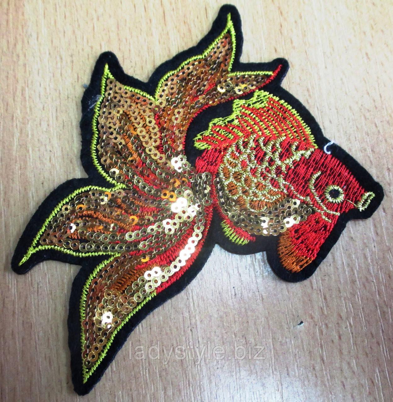 """Красивая  вышивка """"Золотая рыбка"""" от студии LadyStyle.Biz"""