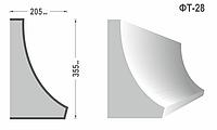 Фасадный молдинг (Тяга) фт-28