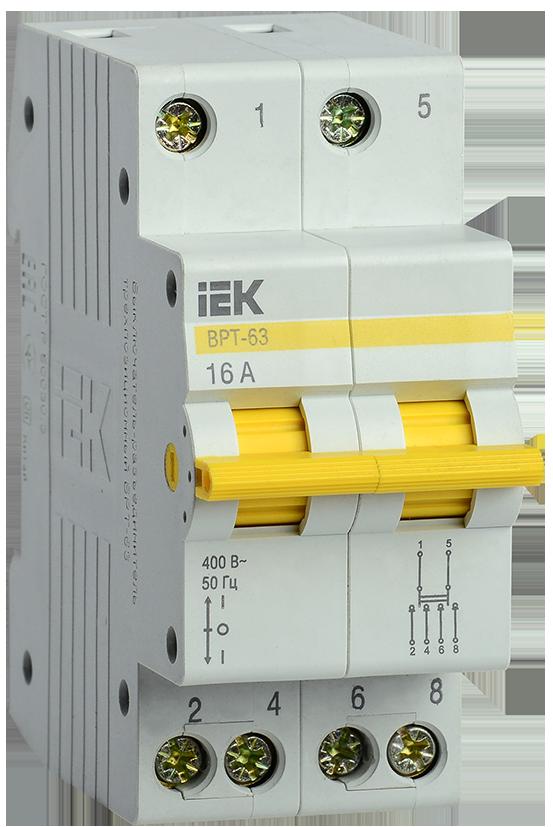 Перемикач введення трипозиційний 2Р 16А ДРТ-63 IEK