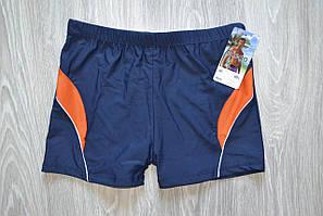 Плавки боксеры мужские купальные Miego синий+оранжевый L (907)