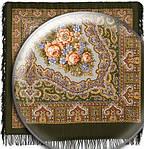"""Платок шерстяной с шерстяной бахромой """"Ласковый вечер"""", 125х125 см рис. 1184-10, фото 2"""