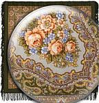 """Платок шерстяной с шерстяной бахромой """"Ласковый вечер"""", 125х125 см рис. 1184-10, фото 3"""