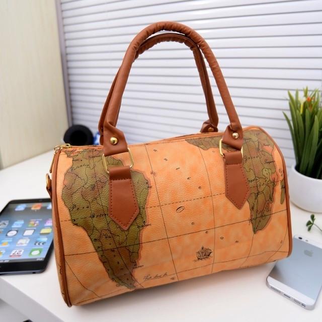 Женская сумка бочонок `британский ретро`