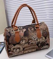 Женская сумка бочонок `британский ретро`, фото 2