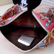Женская сумка бочонок `британский ретро`, фото 3