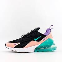 Кроссовки женские Nike Air Max 270 Have A Nike Day чёрные с розовым