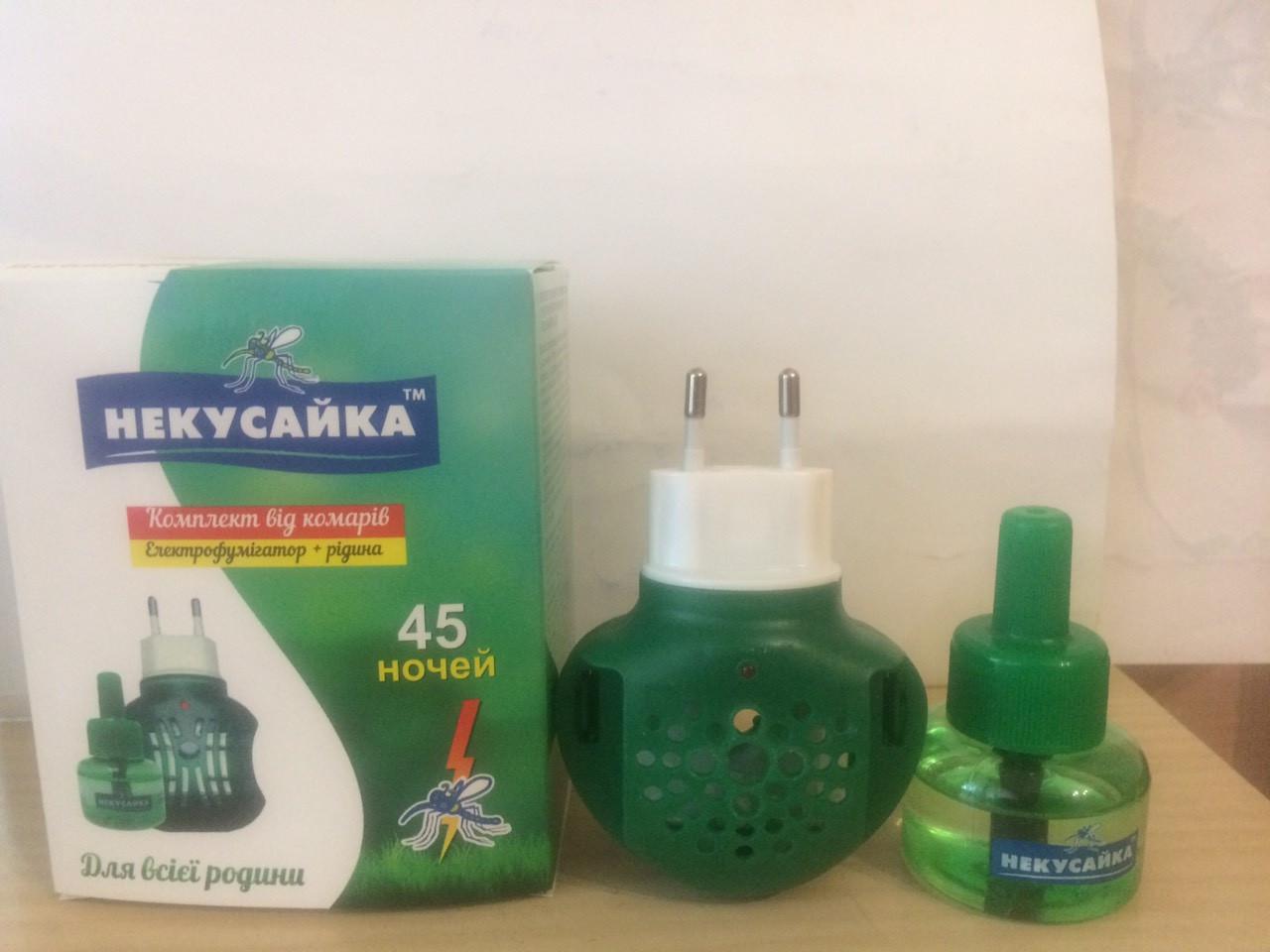 Электрофумигатор + жидкость от комаров без запаха, 45 ночей