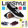 Новые стильные кеды Vans + Подарок Силиконовые шнурки, хит сезона - Фото