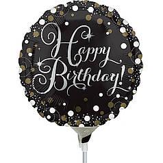 Мини-фигура ANAGRAM-АН Круг Happy Birthday - конфетти на черном