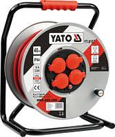 Удлинитель сетевой на катушке 3-х жильный YATO YT-8107 (Польша)