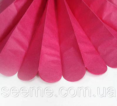 Паперові помпони з тишею «Boysenberry», діаметр 25 див.