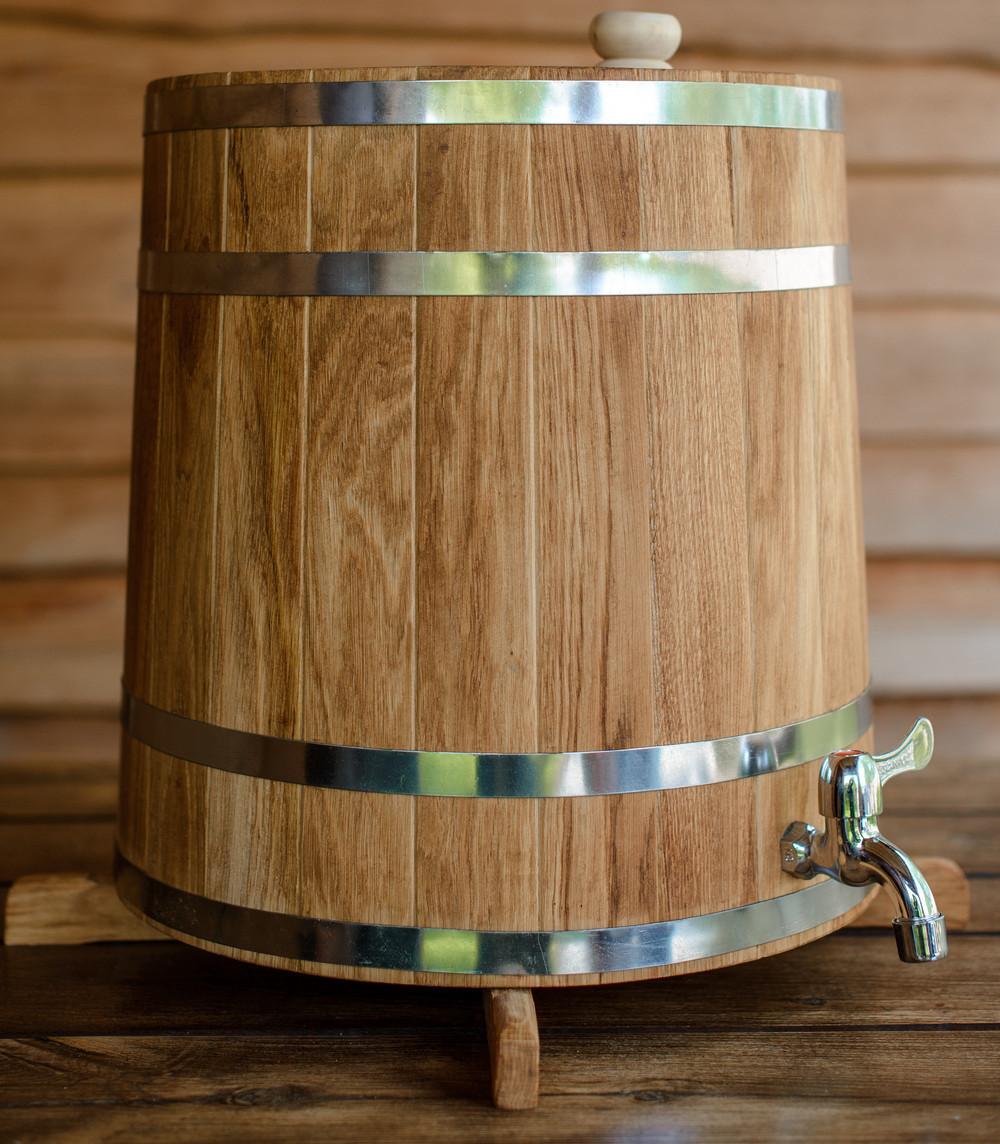 Бочка (жбан) дубовый для напитков 60 литров (вертикальный)