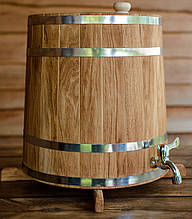 Бочка (збан) дубовий для напоїв 20 літрів (вертикальний)