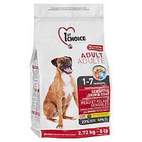 Супер премиум корм для взрослых собак ягнёнок/рыба 1st Choice Adult Sensitive Lamb&Fish (2.72 кг.)